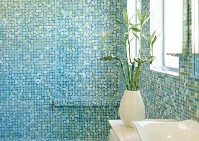 Custom glass tile installation